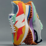 Women's New Balance 327 'Multicolor' Mustard Light Green Red