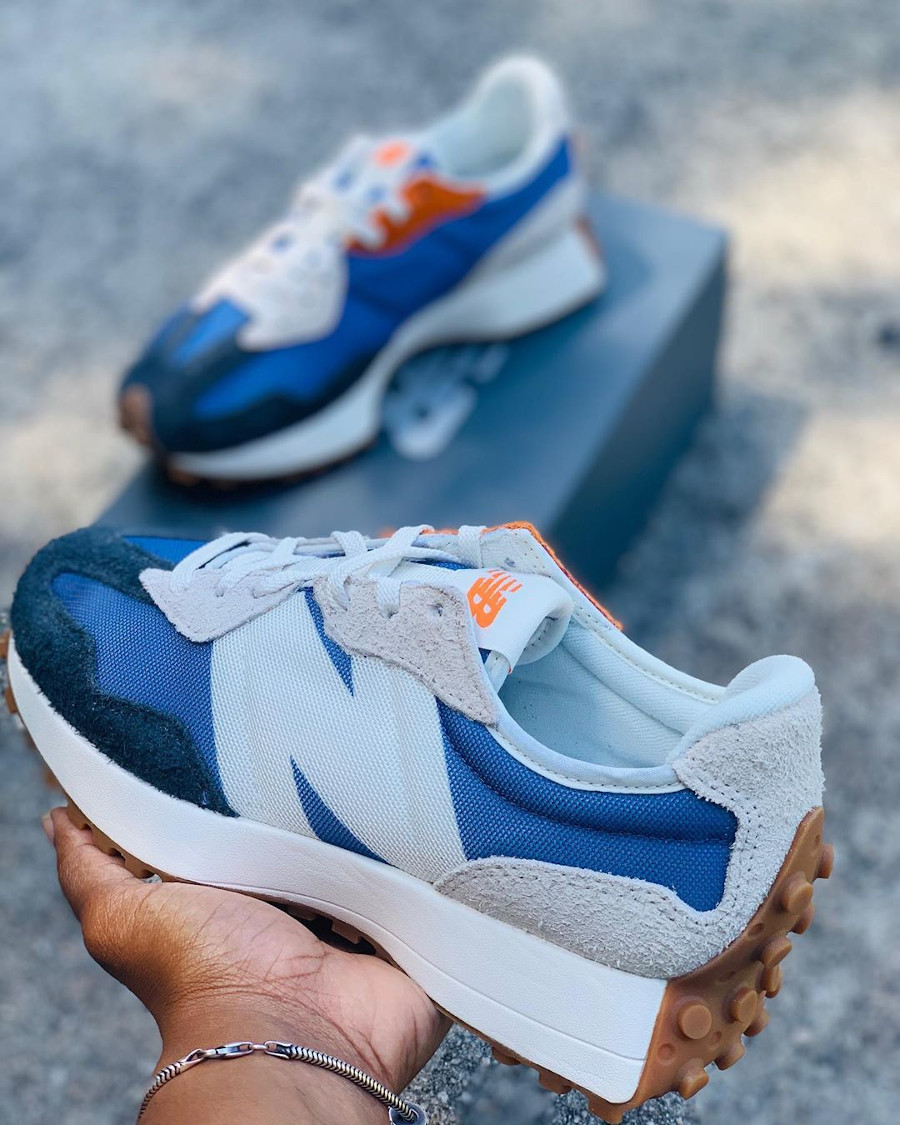 New Balance 327 WS327COC Blue Grey White