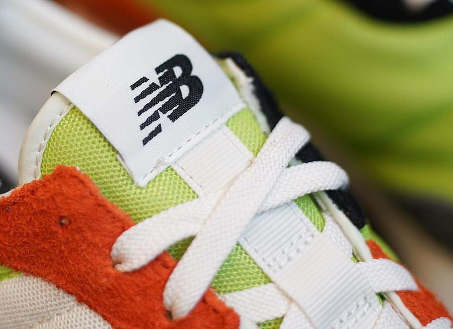 New Balance 327 homme orange vert fluo et gris (2)