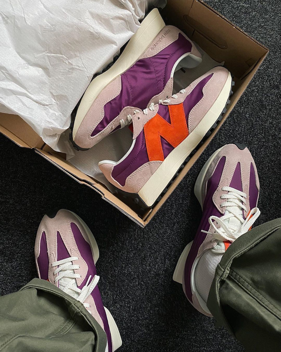 New Balance 327 violet gris et orange (2)