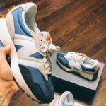 Women's New Balance 327 Blue Grey White