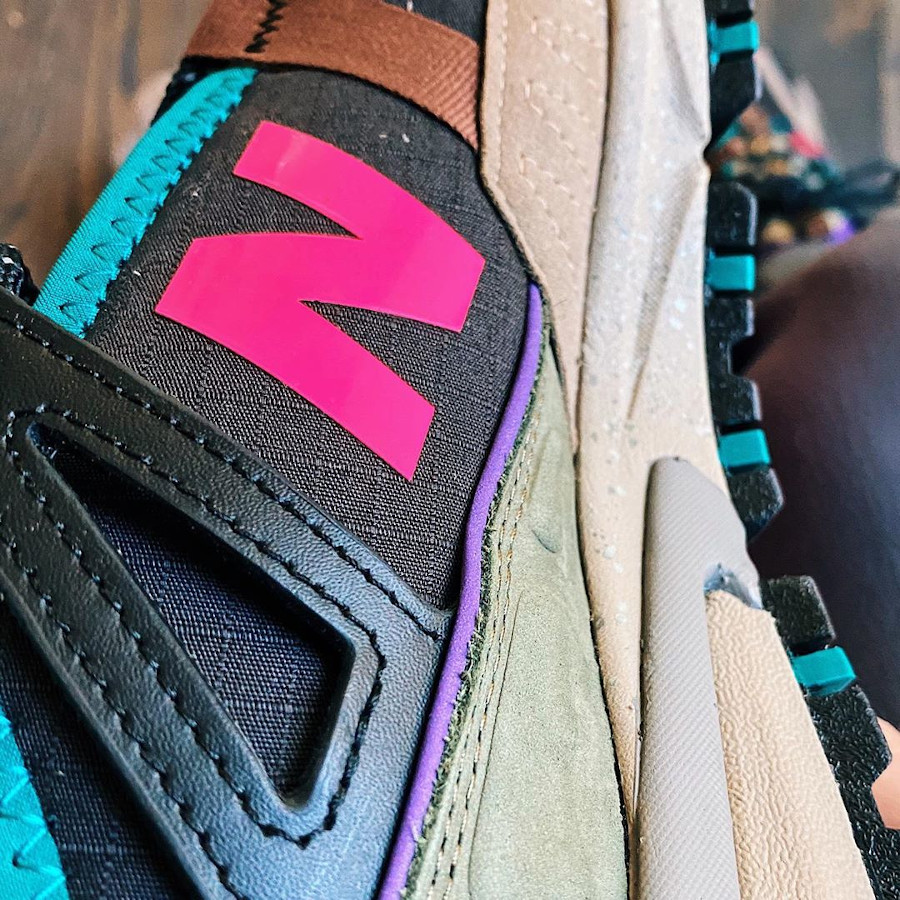 New Balance X-Racer outdoor noire grise rose et turquoise (5)