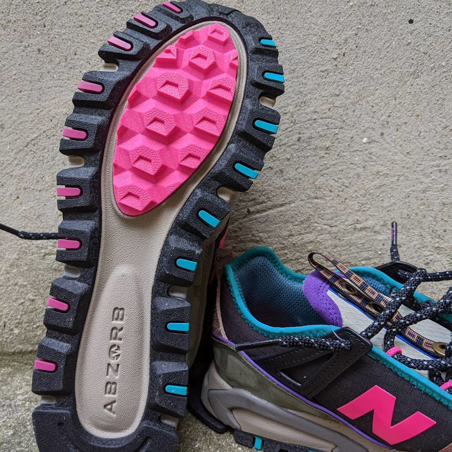 New Balance X-Racer outdoor noire grise rose et turquoise (9)