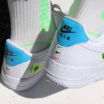 Nike Wmns Air Force 1 07 SE Worldwide 'White Volt Laser Blue'