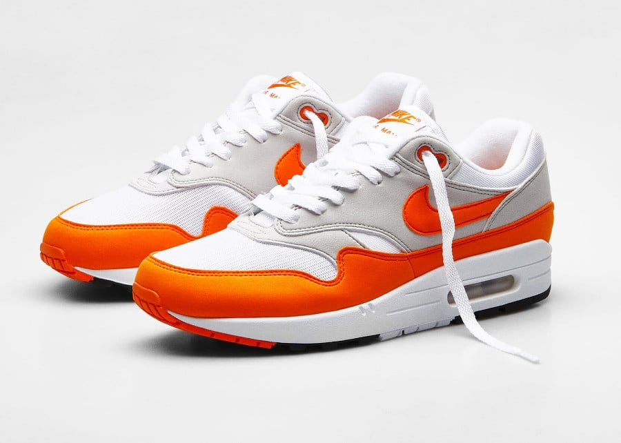 Nike Air Max 1 2020 original blanche grise et orange (5)