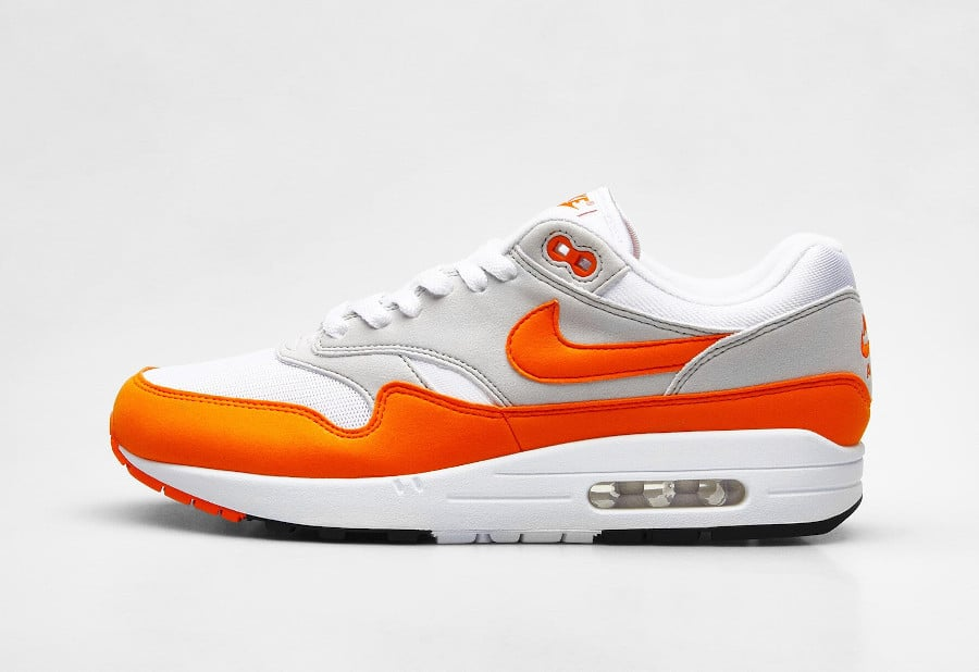 Nike Air Max 1 2020 original blanche grise et orange (6)