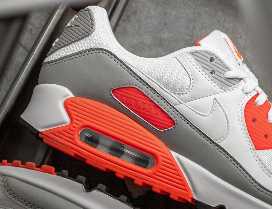 Nike Air Max 90 30ème anniversaire agrume vif blanche et grise (2)