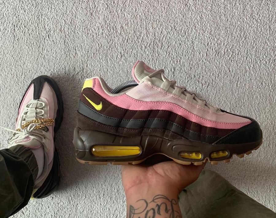 Nike Air Max 95 brun velours jaune opti (5)