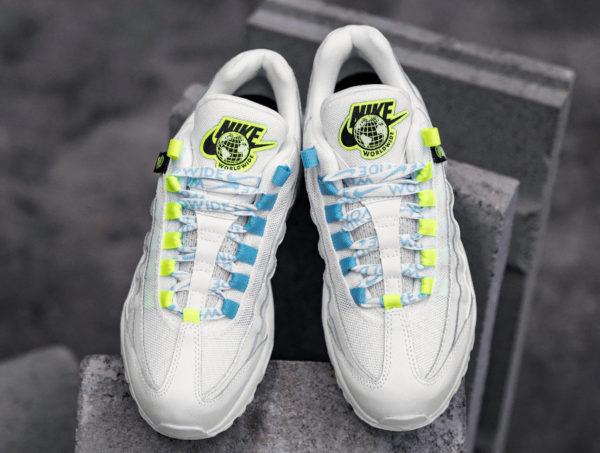 Nike Air Max 95 femme WW blanche et jaune fluo (2)