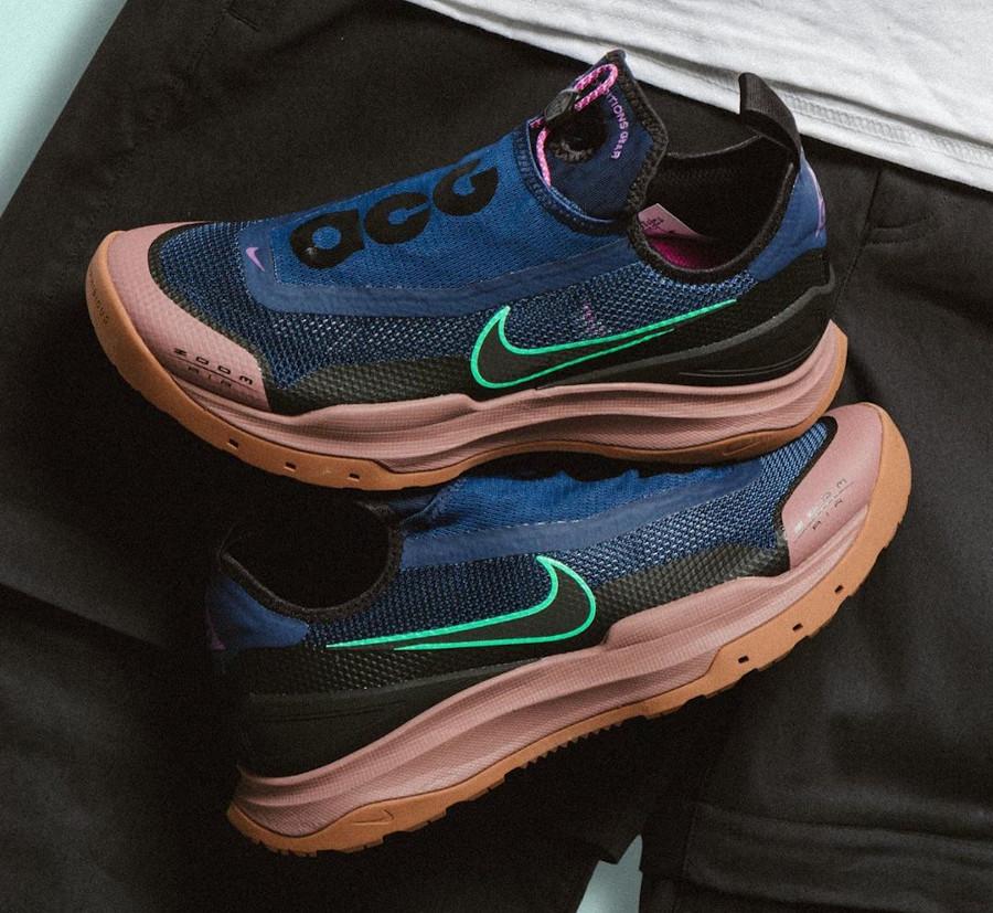 Nike Air Zoom AO Hiking ACG bleu vert fluo marron CT2898-401 (3)