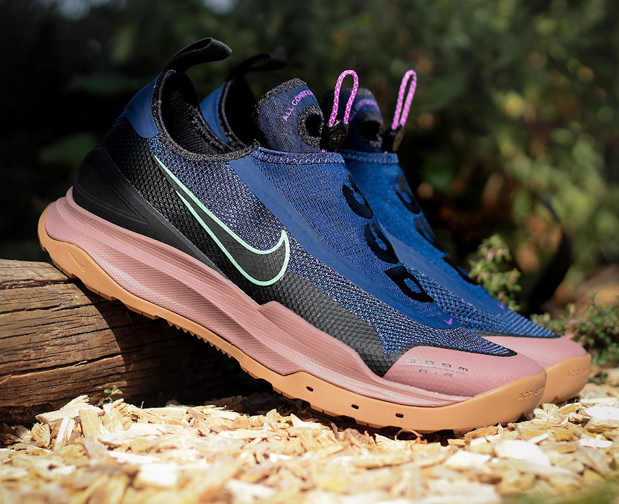 Nike Air Zoom AO Hiking ACG bleu vert fluo marron CT2898-401 (4)