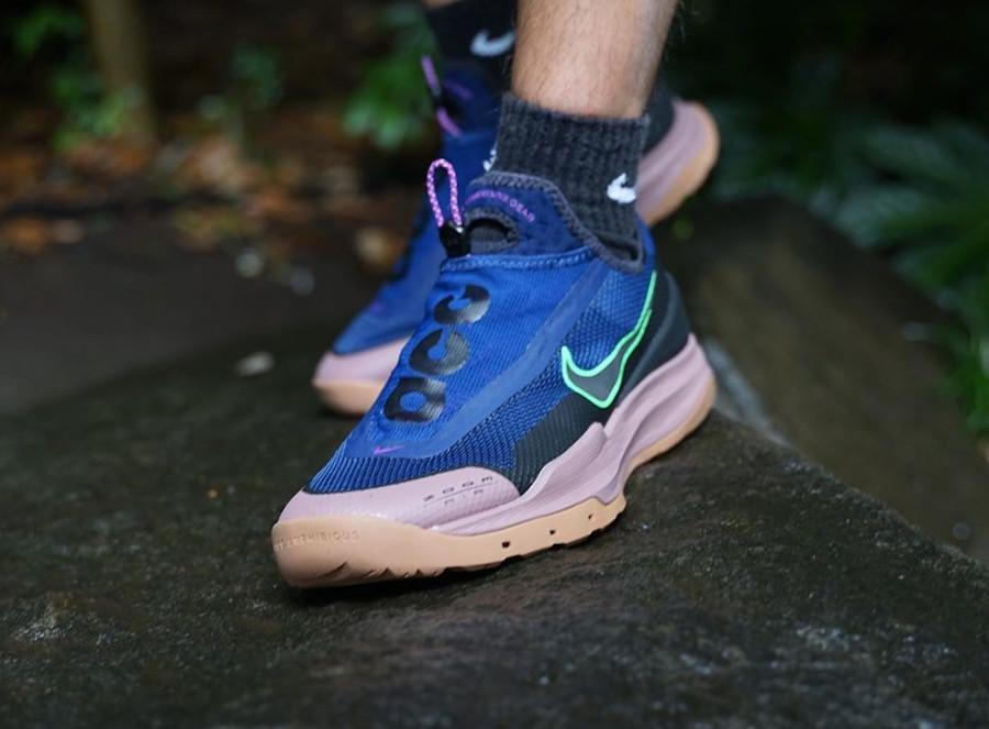 Nike Air Zoom AO Hiking ACG bleu vert fluo marron CT2898-401 (5)