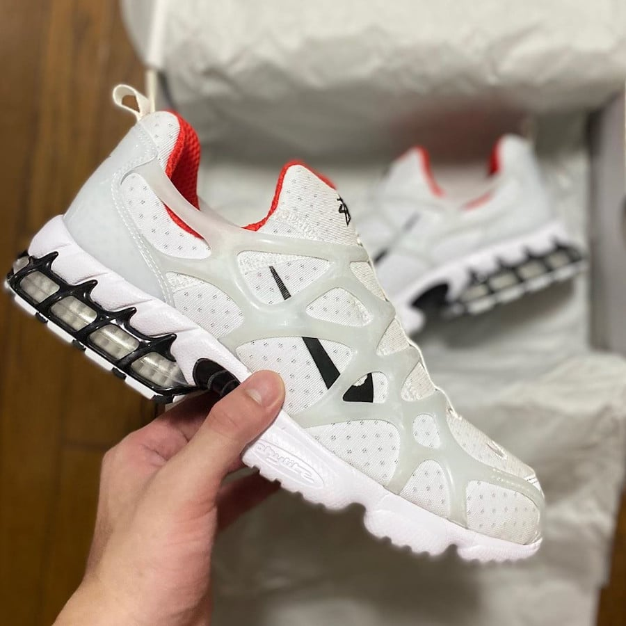 Nike Air Zoom Kukini blanche rouge et noire (1)