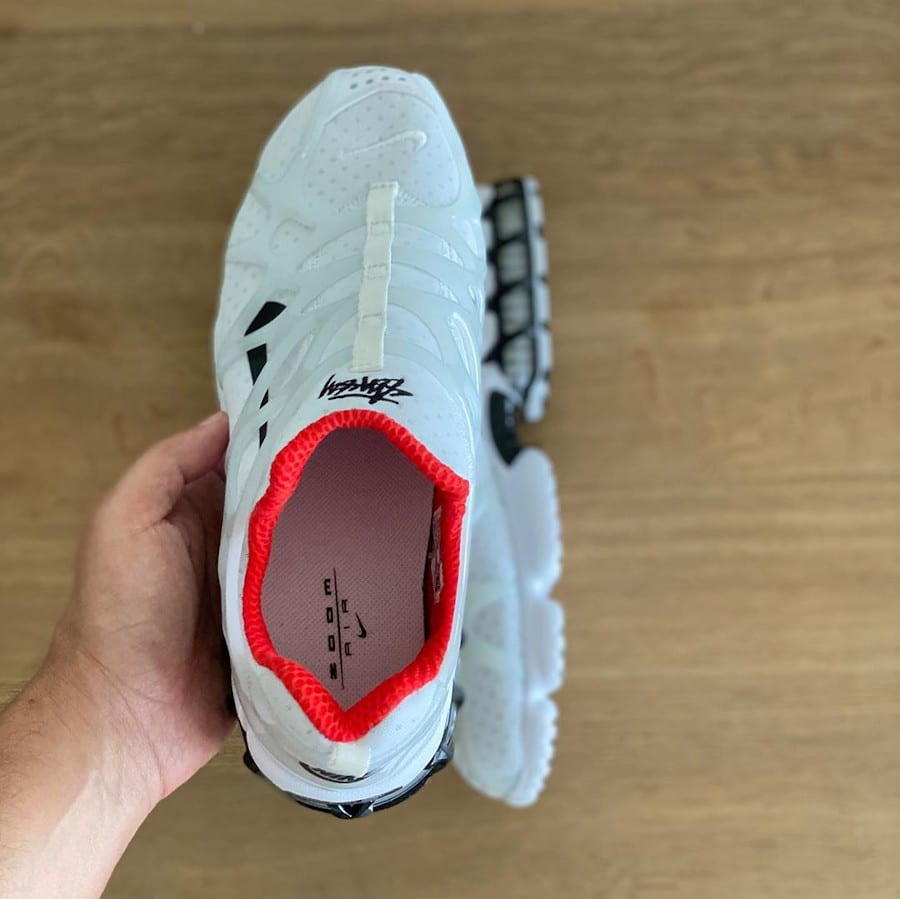 Nike Air Zoom Kukini blanche rouge et noire (4)