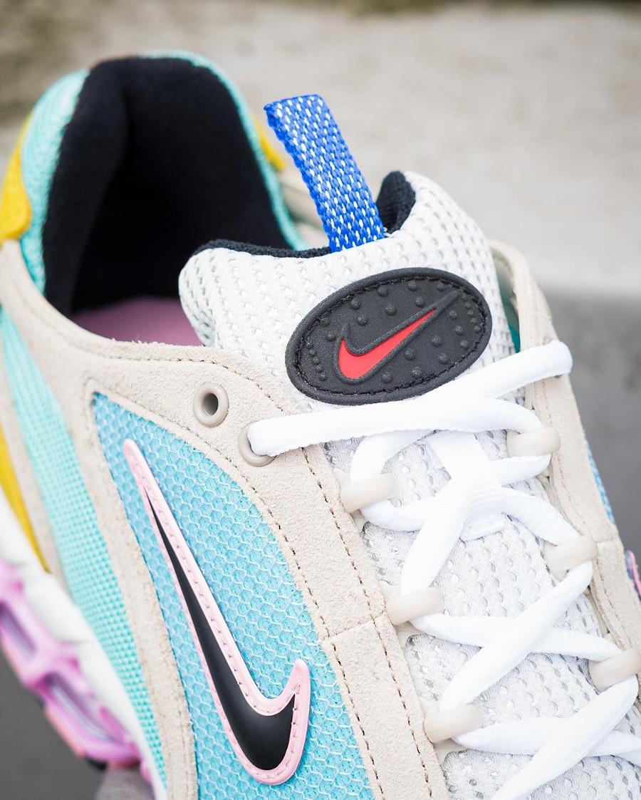 Nike Air Zoom Spiridon Cage 2 turquoise jaune et rose (exclusivité Size? (6)