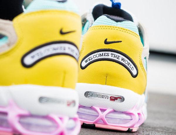 Nike Air Zoom Spiridon Cage 2 turquoise jaune et rose (exclusivité Sizeà (couv)
