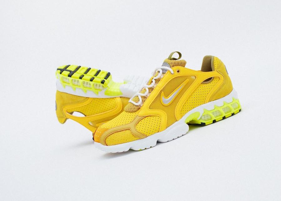 Nike Air Zoom Spiridon cage 2 jaune et fluo CW5376-300 (1)
