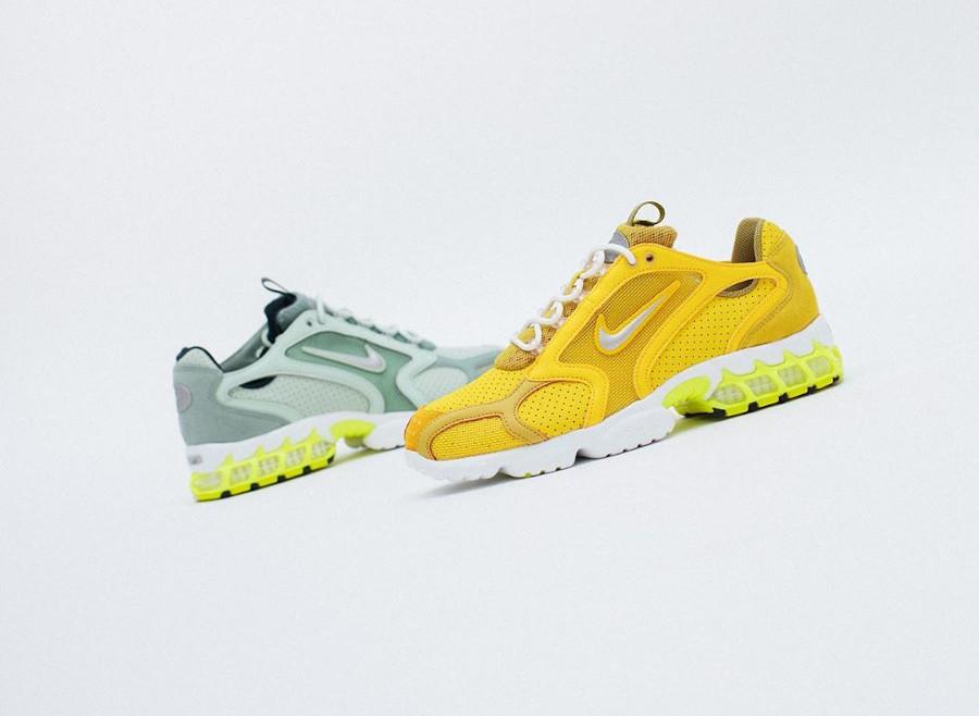 Nike Air Zoom Spiridon cage 2 jaune et fluo CW5376-300 (2)