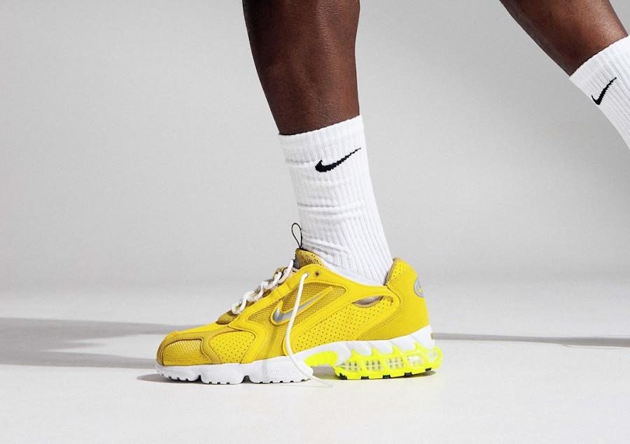 Nike Air Zoom Spiridon cage 2 jaune et fluo CW5376-300 (3)