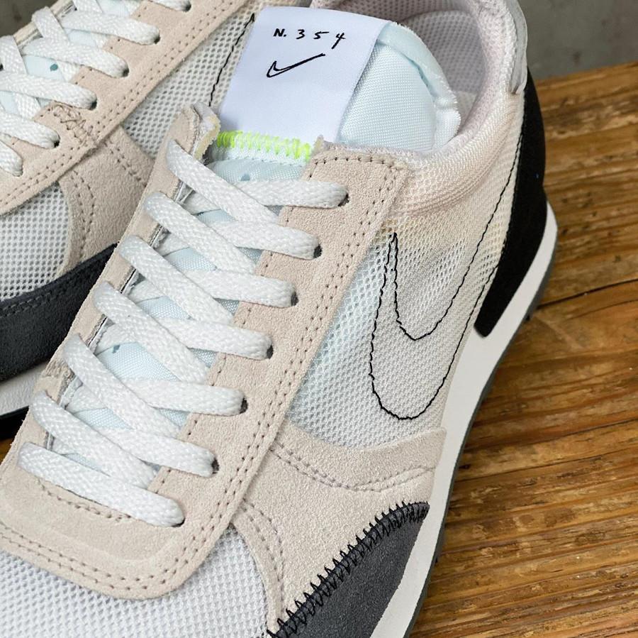 Nike DBreak Type N.354 blanche marron noire et fluo (3)