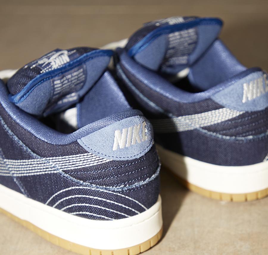 Nike Dunk Low Po SB 2020 en jeans brut bleu foncé (1)