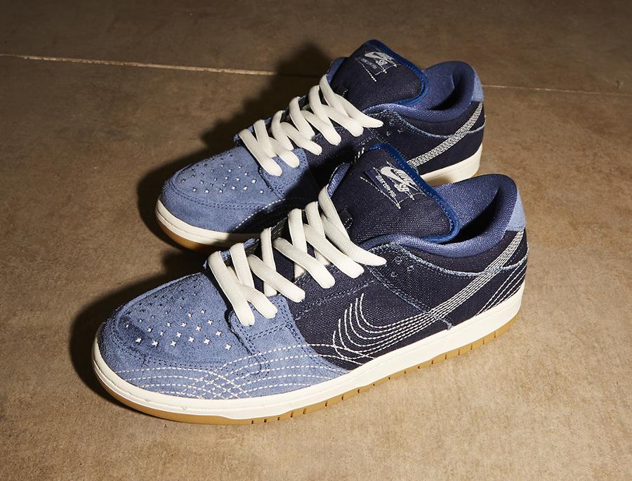 Nike Dunk Low Po SB 2020 en jeans brut bleu foncé (3-1)