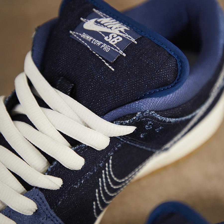 Nike Dunk Low Po SB 2020 en jeans brut bleu foncé (3)