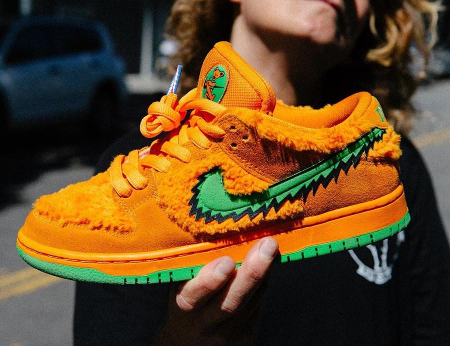 Nike Dunk Low Pro SB en peluche orange CJ5378-800