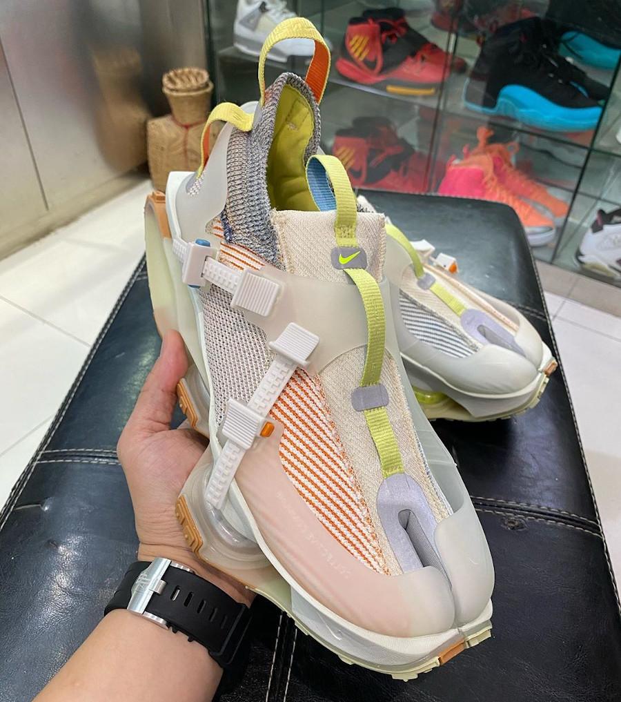Nike ISPA Road Warrior beige vert fluo et marron (4)
