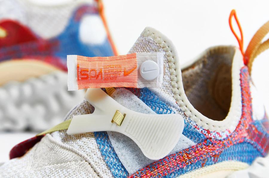 Nike Over React au tissage blanc cassé CD9664-100 (4)