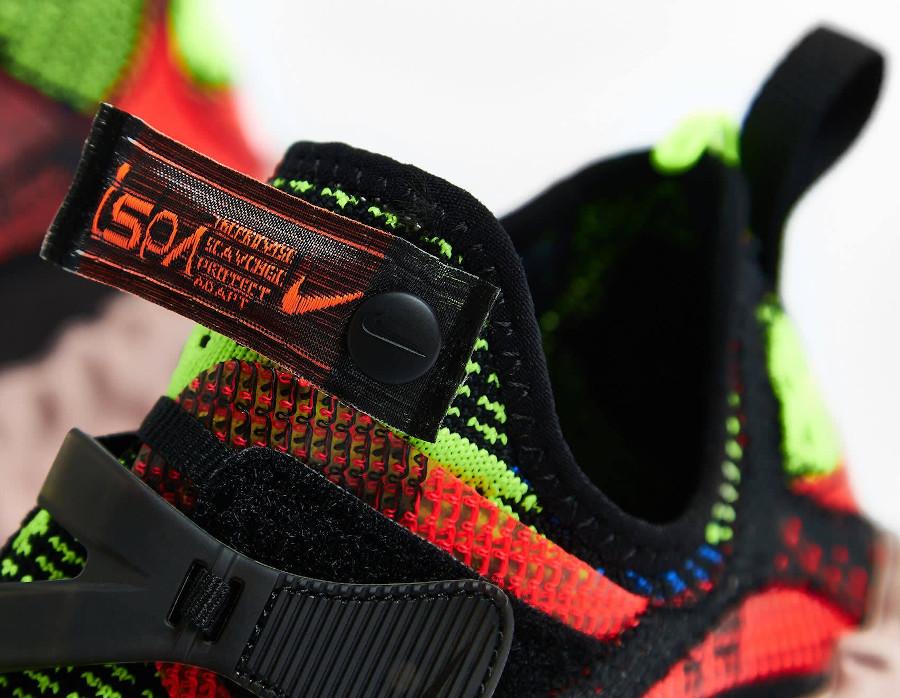 Nike Over React au tissage noir rouge et ver fluo CD9664-001 (3)