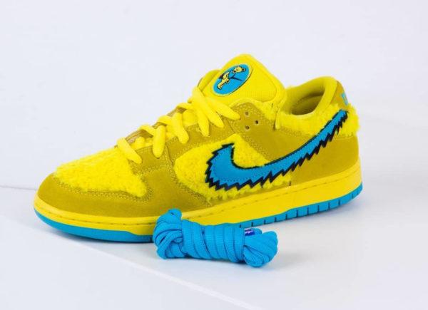 Nike SB Dunk Low en peluche jaune Bear's Dancing (5)