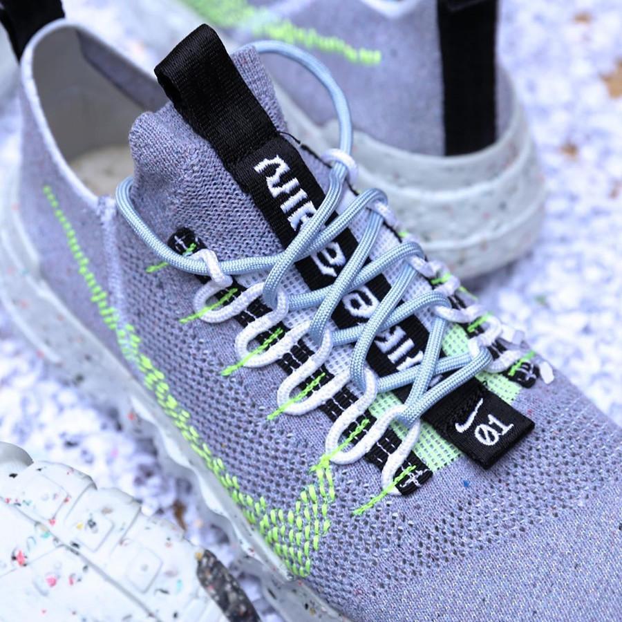 Nike Space Hippie 01 Trash Transformed frise et vert fluo (2)