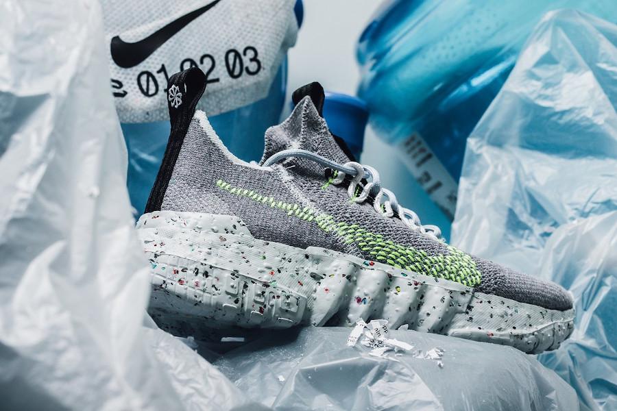 Nike Space Hippie 01 Trash Transformed frise et vert fluo (7)