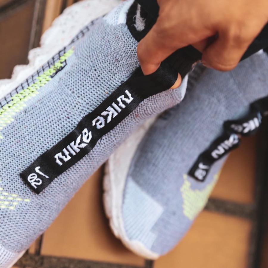 Nike Space Hippie 02 en débris spaciaux grise et vert fluo (4)