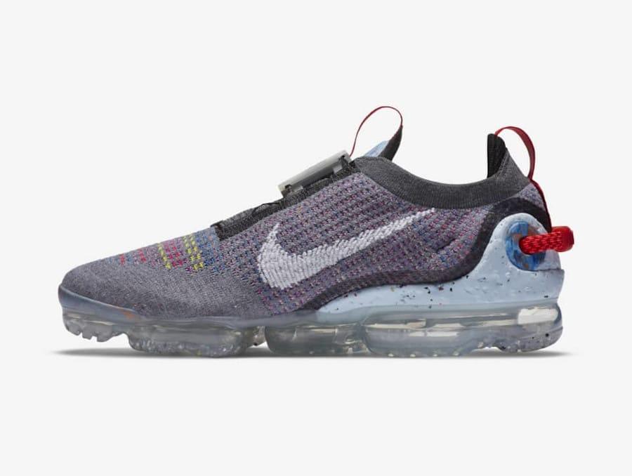 Nike VM en polyester recyclé gris foncé et multicolore (3)