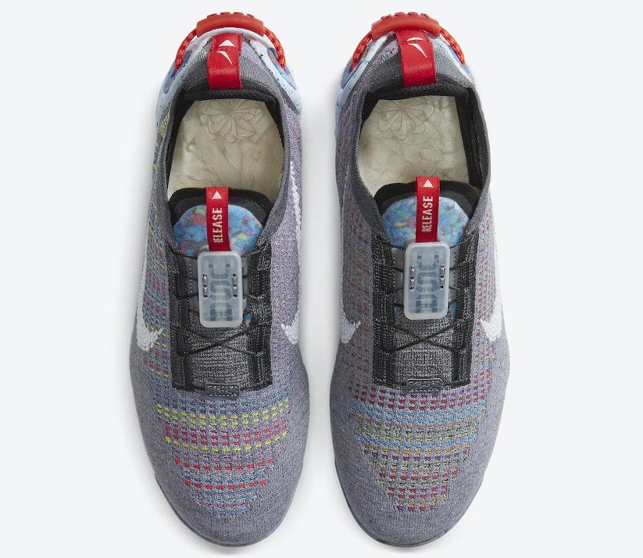 Nike VM en polyester recyclé gris foncé et multicolore (5)