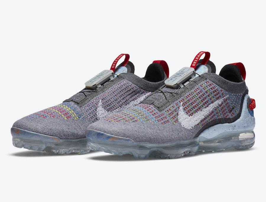Nike VM en polyester recyclé gris foncé et multicolore (6)