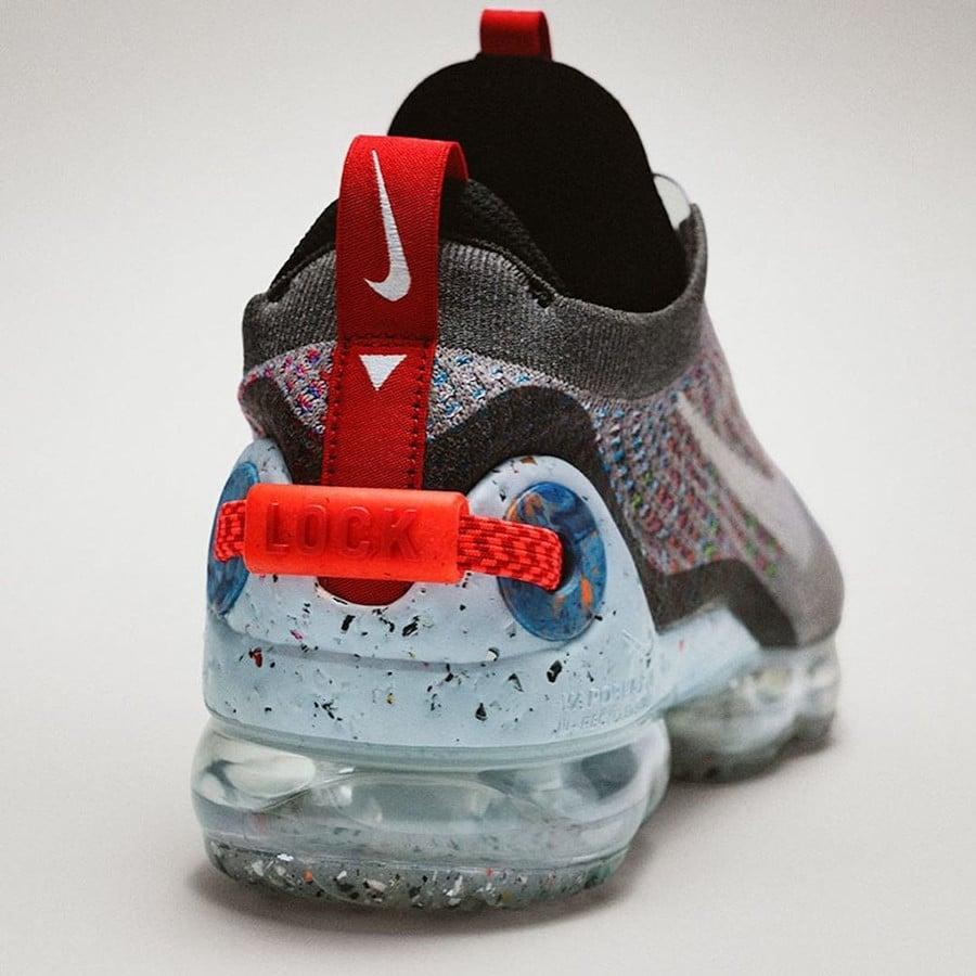 Nike VM en polyester recyclé gris foncé et multicolore (7)