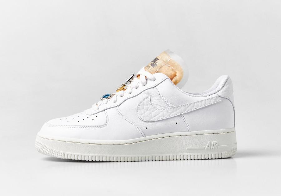 Nike Air Force 1 Low blanche avec des bijoux (4)