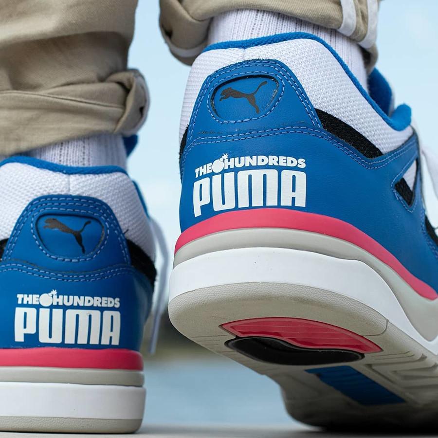Puma Palace Guard Adam Logo blanche bleu et rose (1)