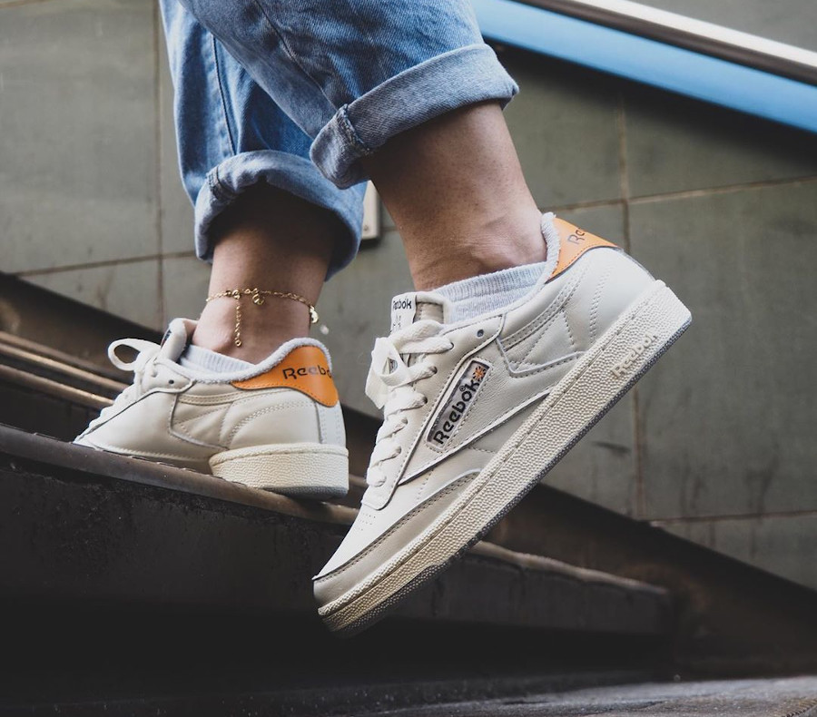 Reebok Club C 85 W Size anniversaire on feet (2)