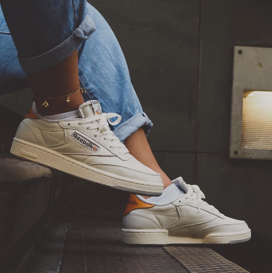 Reebok Club C 85 W Size anniversaire on feet (3)