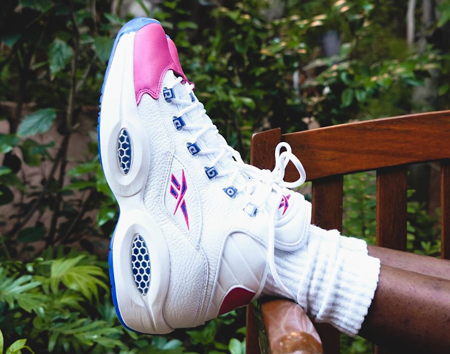 Reebok Question Allen Iverson 2020 blanche et rose (6)