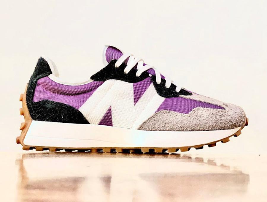 Women's New Balance 327 violet gris noir et jaune (4)