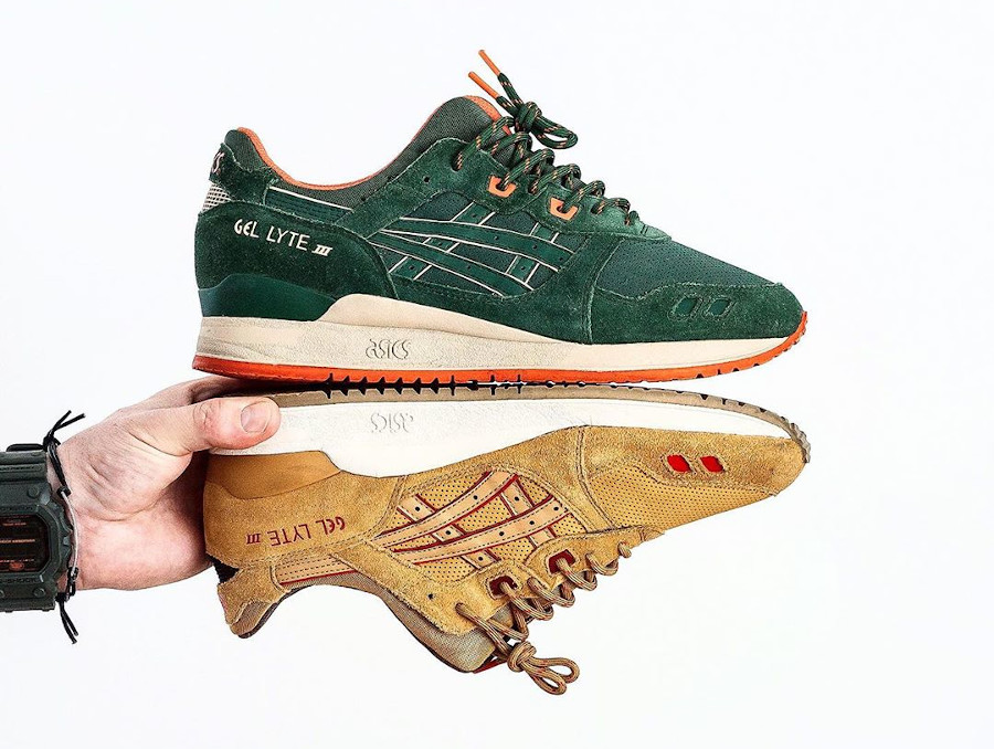 2014 - Asics Gel Lyte 3 Dark Green & Honey Mustard - @sneakersjeansts