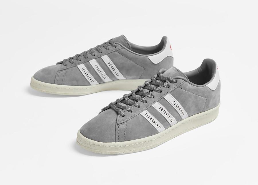 Adidas Campus 80 grise FY0733