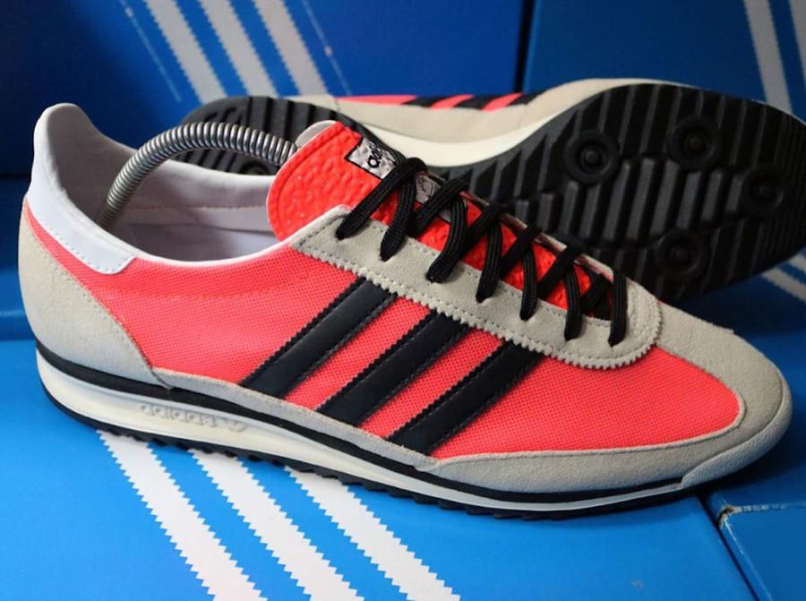 Adidas SL72 rose lave noire et blanc cassé (1)