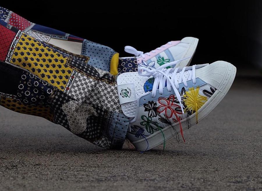 Adidas Superstar 'Super Earth'on feet (1)