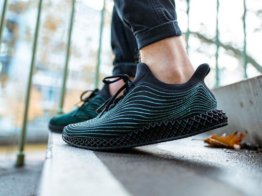 Adidas Ultra Boost en Primeknit recyclé noir (semelle imprimée en 3D) (3)